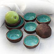 """Посуда ручной работы. Ярмарка Мастеров - ручная работа Комплект розеток """"Лесные озера"""". Handmade."""