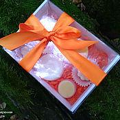 """Косметика ручной работы. Ярмарка Мастеров - ручная работа Подарочный набор """"Оранжевое настроение """". Handmade."""