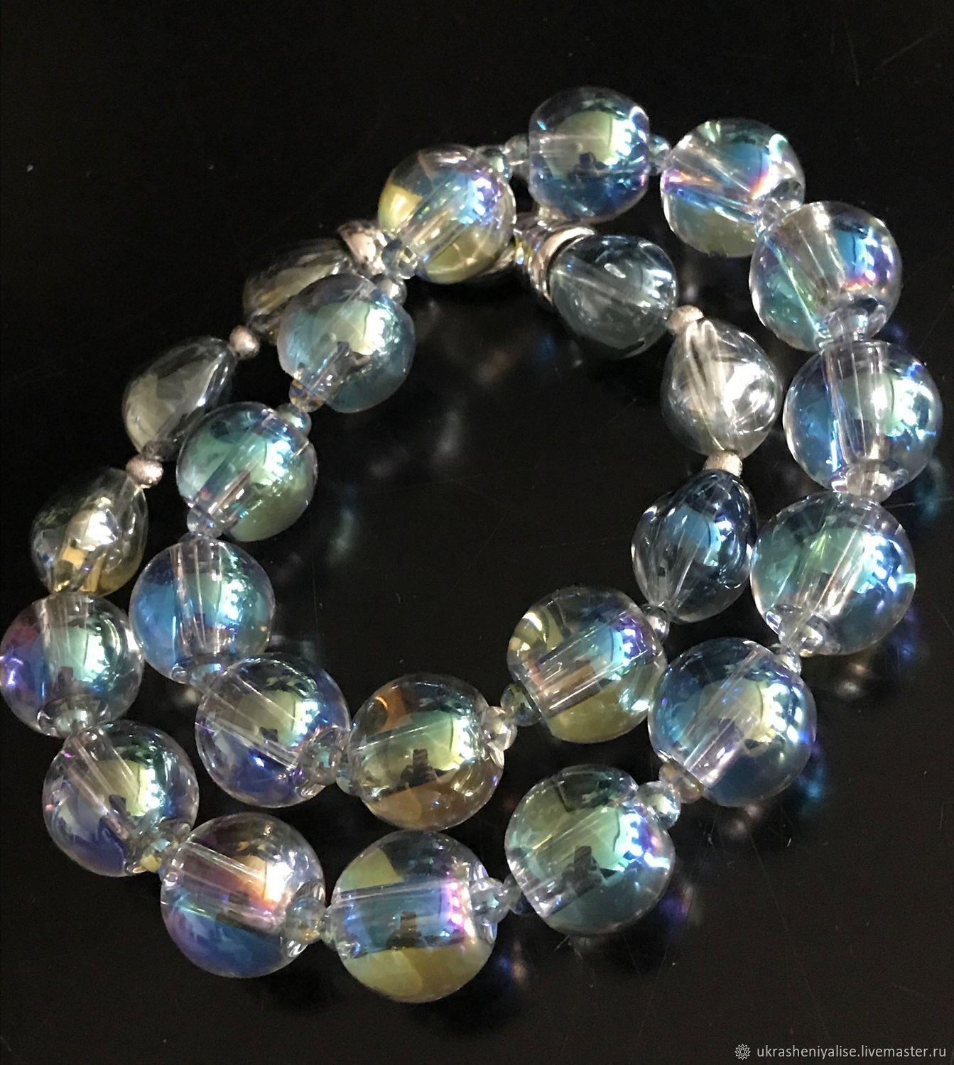 'Bulles de savon' glass beads, Necklace, Moscow,  Фото №1