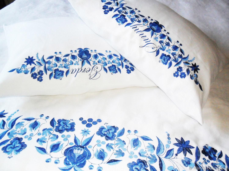 Embroidered bedding set,bed linen set,bed linen, Bedding sets, Bakhmut,  Фото №1