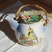 Чайник керамический Птичка