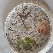 Для дома и интерьера ручной работы. Ярмарка Мастеров - ручная работа Декупаж Часы Роза Grace. Handmade.