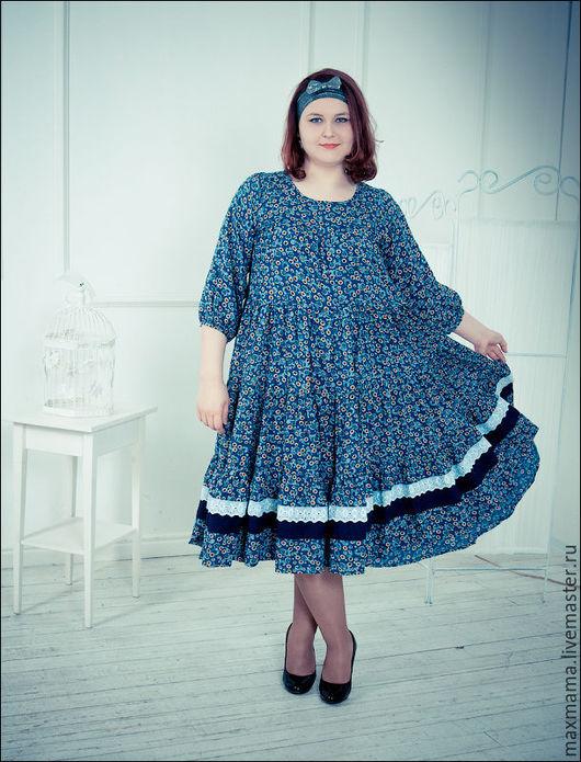 Платья ручной работы. Ярмарка Мастеров - ручная работа. Купить Платье ярусное в стиле бохо. Handmade. Комбинированный, штапель вискозный