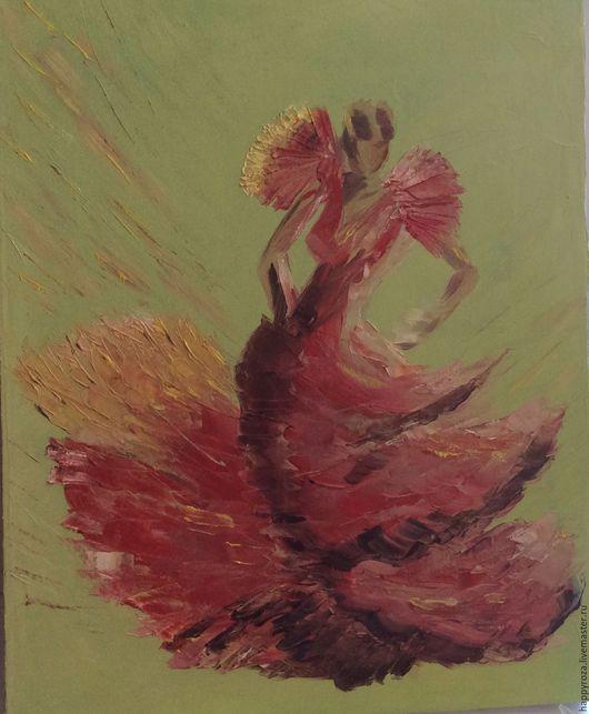 Люди, ручной работы. Ярмарка Мастеров - ручная работа. Купить Танцовщица фламенко. Масло на холсте. Размер 40 на 50  см.. Handmade.