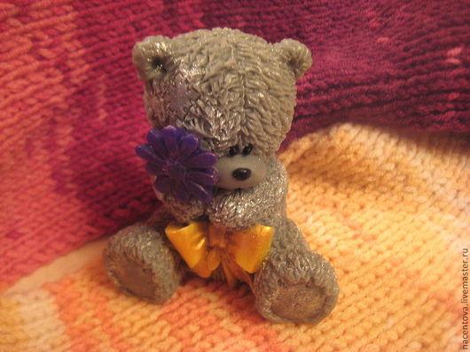 """Мыло ручной работы. Ярмарка Мастеров - ручная работа. Купить Мыло """"Тедди с цветком"""". Handmade. Тедди медведи"""