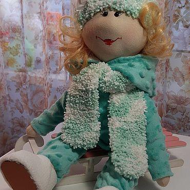 Куклы и игрушки ручной работы. Ярмарка Мастеров - ручная работа Малышка на санях. Handmade.