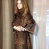 Шуба с леопардовым принтом