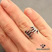 Украшения handmade. Livemaster - original item Arm Hugs silver ring (silver, wide, dimensionless). Handmade.