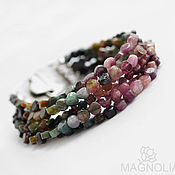 Украшения handmade. Livemaster - original item Bracelet with tourmaline Mirage. Handmade.