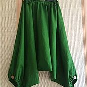 Одежда ручной работы. Ярмарка Мастеров - ручная работа Укороченные алладины из льна. Handmade.