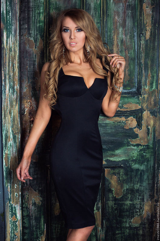 """Платья ручной работы. Ярмарка Мастеров - ручная работа. Купить Черное платье """"Бони"""". Handmade. Черный, офисное платье, бони"""
