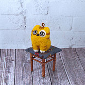 Куклы и игрушки handmade. Livemaster - original item Cat peach miniature. Handmade.