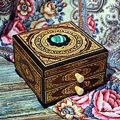 Шкатулки ручной работы. Ярмарка Мастеров - ручная работа Комод с малахитом для Принцесссы. Handmade.