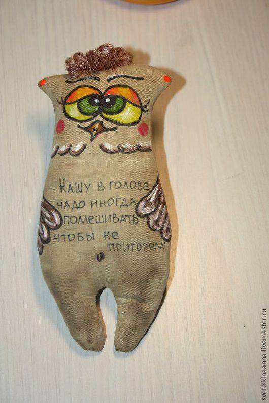 Персональные подарки ручной работы. Ярмарка Мастеров - ручная работа. Купить Кофейная сова. Handmade. Комбинированный, кофейная игрушка, сова