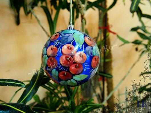 Новый год 2017 ручной работы. Ярмарка Мастеров - ручная работа. Купить Новогодний шар в Жостовском стиле в ассортименте.. Handmade.