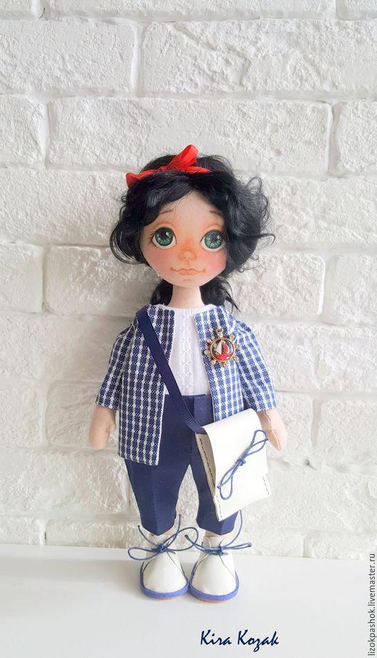 Коллекционные куклы ручной работы. Ярмарка Мастеров - ручная работа. Купить В морском стиле. Handmade. Тёмно-синий
