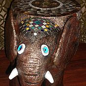 """Для дома и интерьера ручной работы. Ярмарка Мастеров - ручная работа Стол """"Индийский слоник"""".. Handmade."""