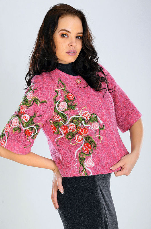 Верхняя одежда ручной работы. Ярмарка Мастеров - ручная работа. Купить ППК 10. Handmade. Цветочный, модное пальто