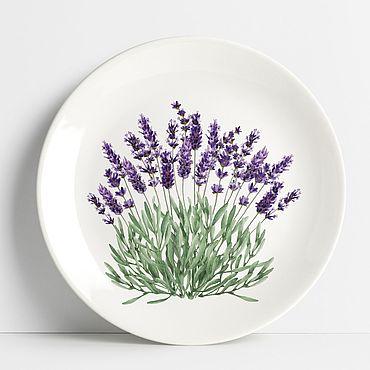"Посуда ручной работы. Ярмарка Мастеров - ручная работа Тарелка ""Лаванда"". Handmade."