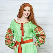 """Одежда ручной работы. Ярмарка Мастеров - ручная работа Вышитое платье """"Гармония цвета"""" вышивка крестом. Handmade."""