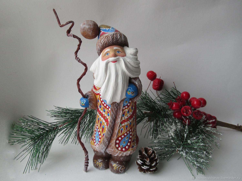 Santa Claus wooden 'Fairy pattern', Ded Moroz and Snegurochka, Roshal,  Фото №1