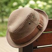 handmade. Livemaster - original item Copy of Summer beige cotton trilby hat TRL-06. Handmade.