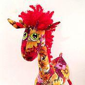 Куклы и игрушки ручной работы. Ярмарка Мастеров - ручная работа Цветочный   Жираф)). Handmade.