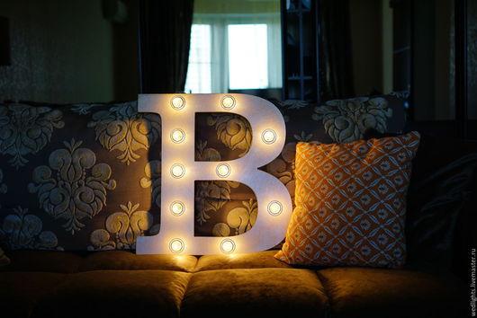 """Освещение ручной работы. Ярмарка Мастеров - ручная работа. Купить Светильник Буква """"B""""  50 см. Handmade. Интерьерный светильник"""