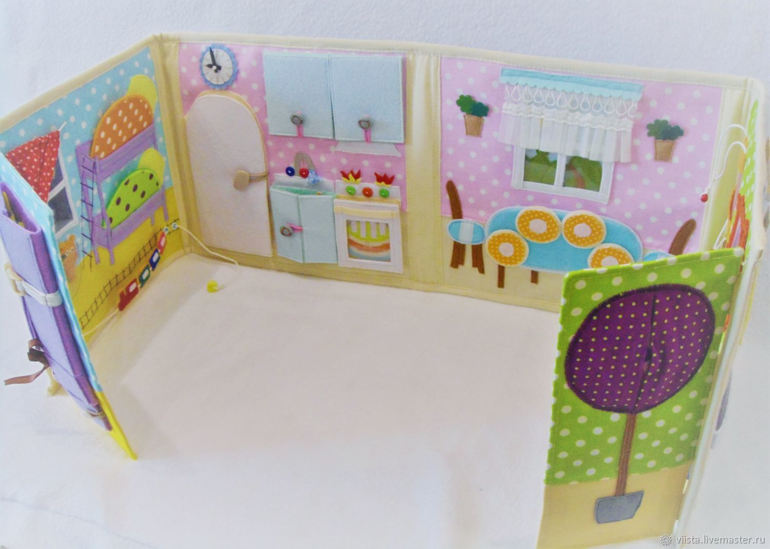 Doll House handmade. Livemaster - handmade. Buy Dollhouse made of fabric and felt.Mitts, doll textile, tape