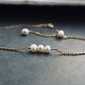 Украшения handmade. Livemaster - original item Bracelet on hand with natural pearls. Handmade.