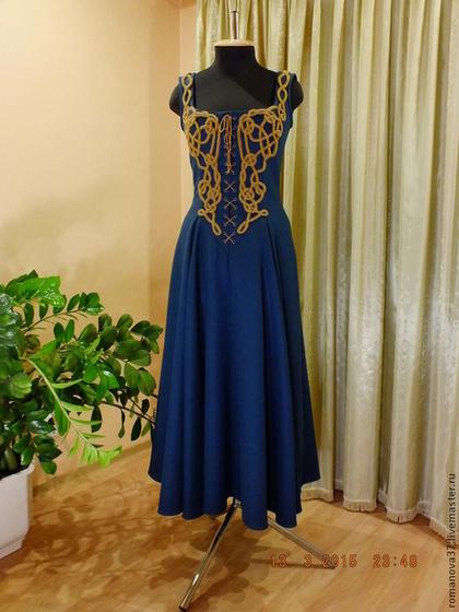 платье с шифоном и джинсовым верхом