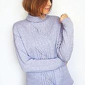 Одежда handmade. Livemaster - original item cashmere sweater lavender. Handmade.