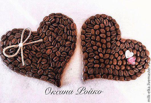 """Магниты ручной работы. Ярмарка Мастеров - ручная работа. Купить Магнит """"Кофейное сердце"""". Handmade. Коричневый, сердце из кофе, подарок"""