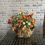 Цветы и флористика ручной работы. Ярмарка Мастеров - ручная работа Букет с ромашками, душистым горошком и колосками. Handmade.