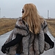 Vest with sleeves from fur of the black Fox (Color crystal). Vests. Zimma. Online shopping on My Livemaster.  Фото №2