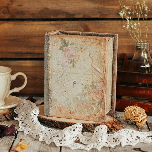 Шкатулки ручной работы. Ярмарка Мастеров - ручная работа. Купить Шкатулка-книга в технике декупаж «Roses». Handmade. Шкатулка, бежевый