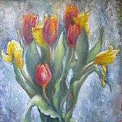 Картины и панно ручной работы. Ярмарка Мастеров - ручная работа тюльпаны. букет тюльпанов. Handmade.