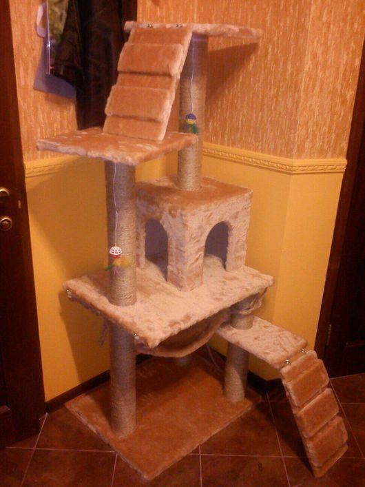 Аксессуары для кошек, ручной работы. Ярмарка Мастеров - ручная работа. Купить КОГТЕТОЧКА5+. Handmade. Домики для кошек, Когтеточка, домик для кота