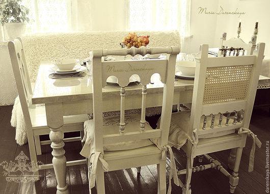 Комплект кухонный `Прованс`. Стол и 6 разных стульев by Maria Darenskaya.