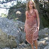 Одежда ручной работы. Ярмарка Мастеров - ручная работа Топ с орнаментом индейцев, батик. Handmade.