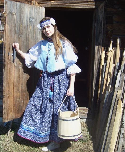 Одежда ручной работы. Ярмарка Мастеров - ручная работа. Купить Душегрея. Handmade. Народный костюм, купала, душегрея, лента