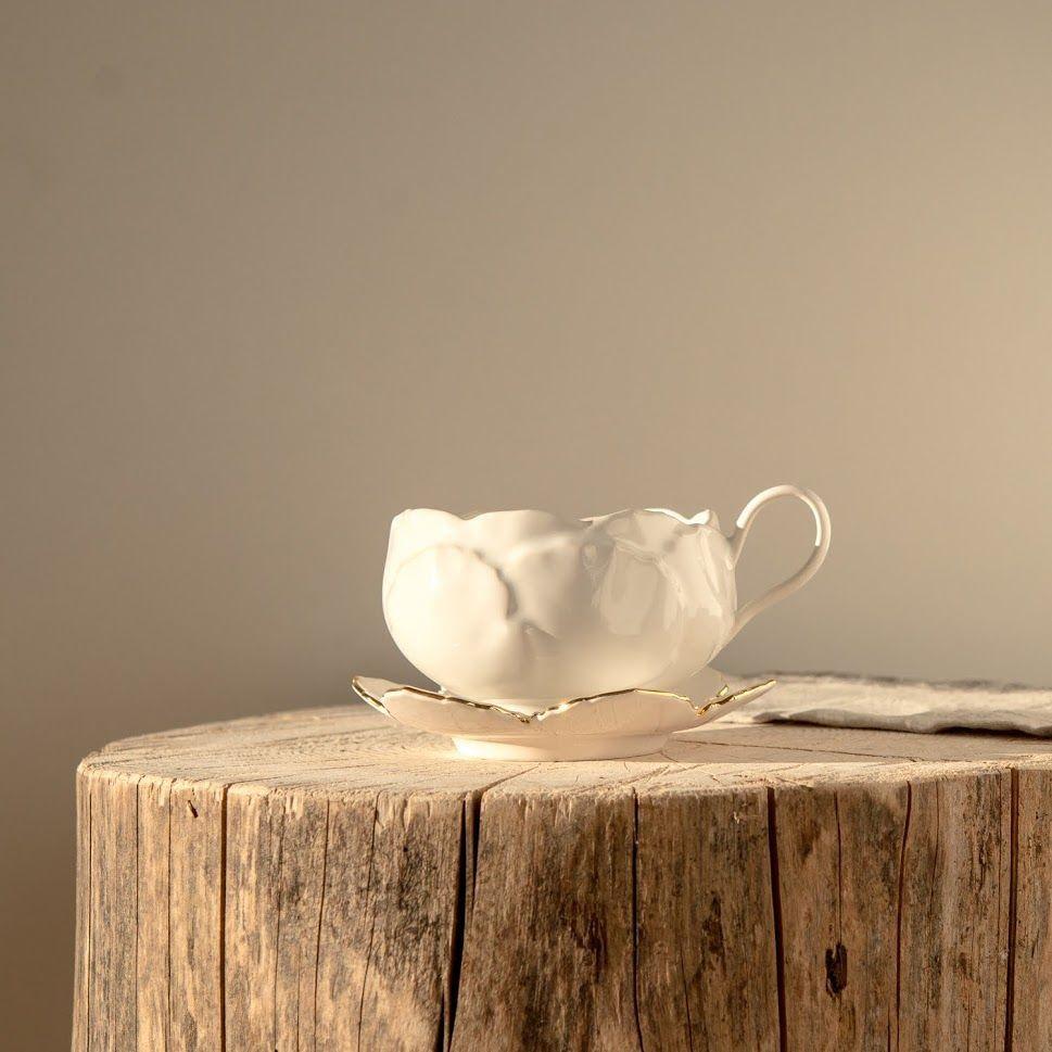 Чашка ручной работы из фарфора Балерина белая, Кружки, Сергиев Посад,  Фото №1