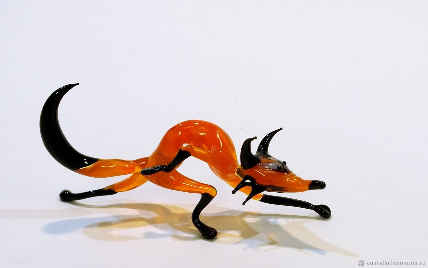 Interior colored glass figurine of Brer Fox, Figurines, Moscow,  Фото №1