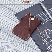 Business card holders handmade. Livemaster - original item Cardholder leather MICRON. Wallet for plastic cards. Handmade.
