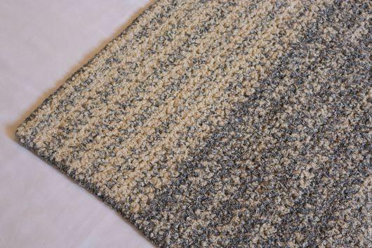 """Текстиль, ковры ручной работы. Ярмарка Мастеров - ручная работа. Купить вязаный коврик прямоугольный """"Серый Барашек"""". Handmade."""