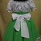 Одежда для девочек, ручной работы. Платье для девочки «Барышня-крестьянка». Ирина ' Ирискино ателье '. Ярмарка Мастеров.