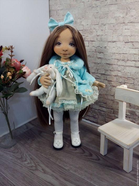 Коллекционные куклы ручной работы. Ярмарка Мастеров - ручная работа. Купить Авторская интерьерная кукла.. Handmade. Мятный, кукла текстильная
