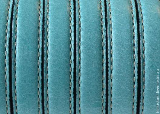 Для украшений ручной работы. Ярмарка Мастеров - ручная работа. Купить Кожаный шнур 10х2 мм с прострочкой разные цвета. Handmade.