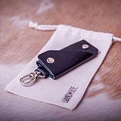 Сумки и аксессуары handmade. Livemaster - original item Genuine leather key holder with carabiner. Handmade.