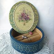 """Для дома и интерьера ручной работы. Ярмарка Мастеров - ручная работа Шкатулка """"Les violettes"""". Handmade."""